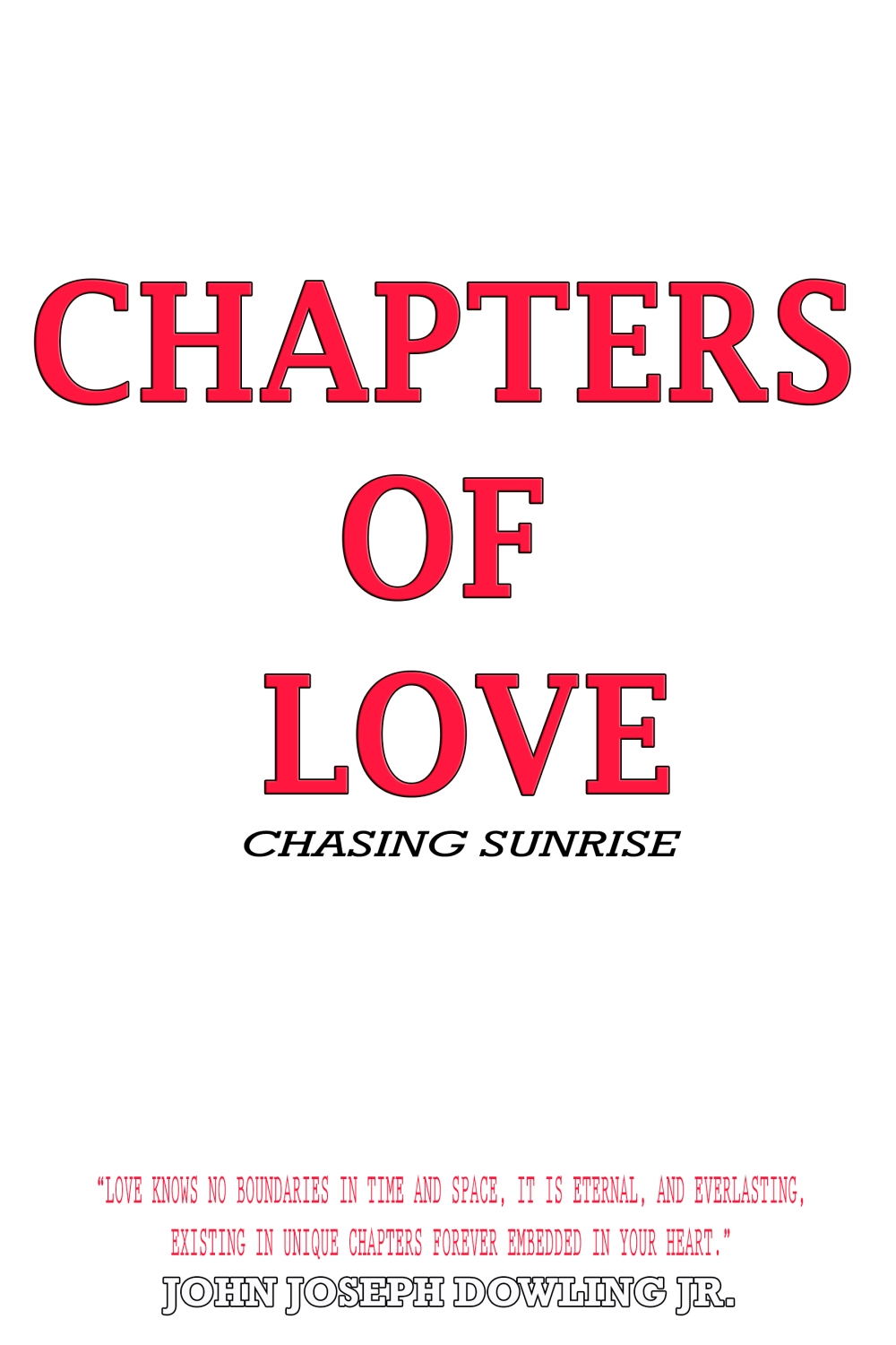 Chapters Of Love HardCover and Paperback Cover 3